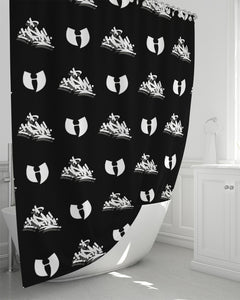 "HRMI HellRazah Music Inc White Tag Logo Shower Curtain 72""x72"""