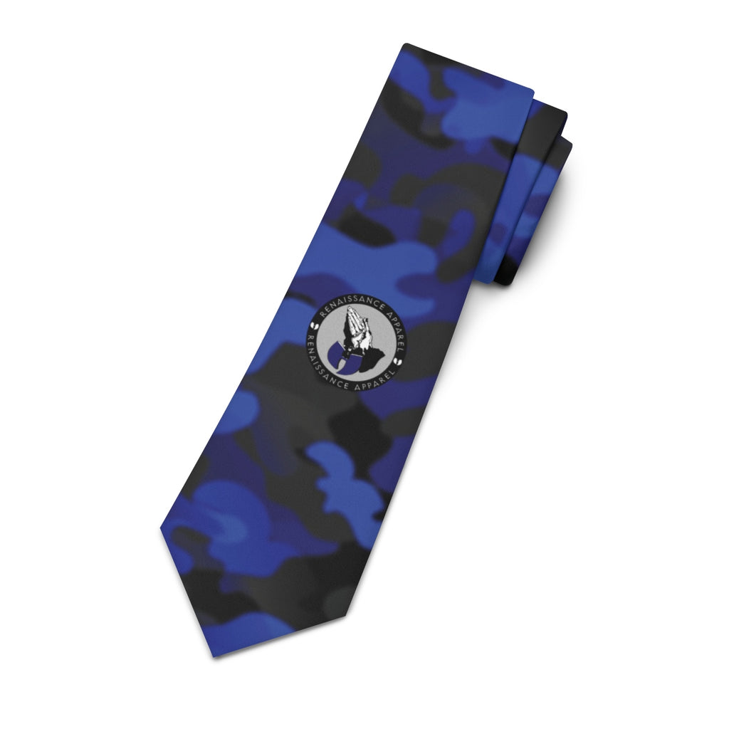 Renaissance Apparel Blue Camoway Limited Edition Necktie