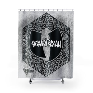 HRMI Heavenz Hazy Maze Shower Curtains HellRazah Music Inc