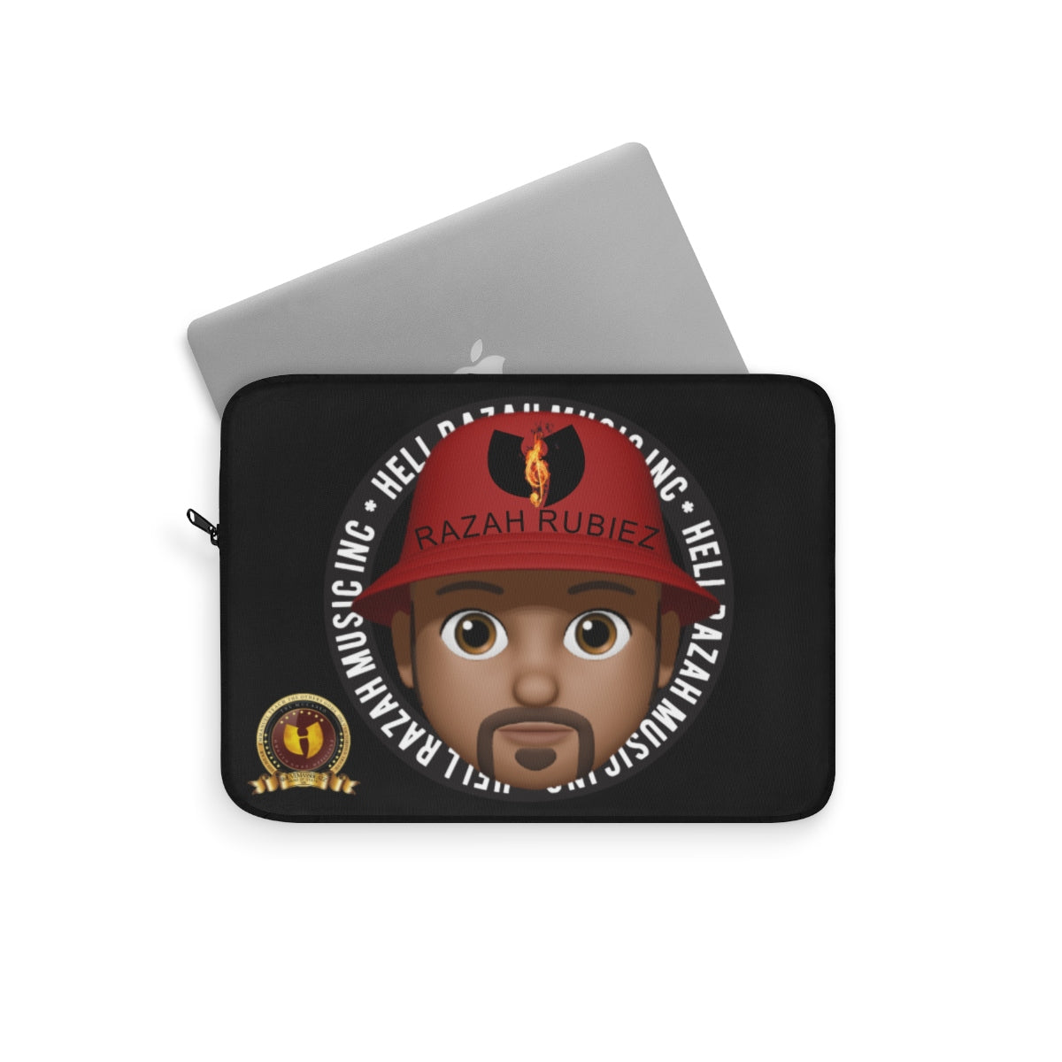 RAZAH RUBIEZ EMOJI Official HellRazah Music Inc. Designer Laptop Sleeve HeavenRazah Merch Graphics by SmuveMassBeatz