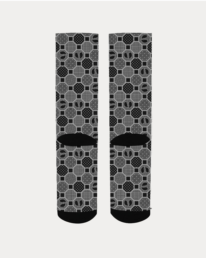 HRMI Gray Patterned Men's Socks
