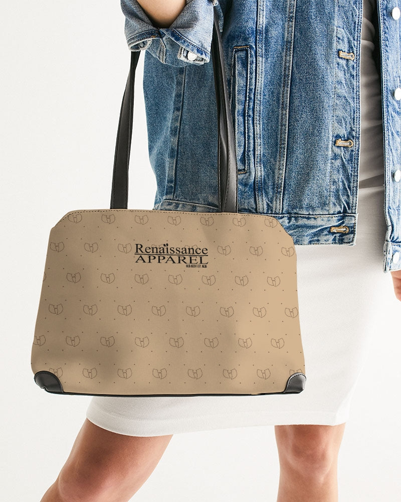 Renaissance Apparel Beige Designer  Shoulder Bag
