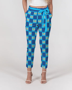 Grand Azul Women's Belted Tapered Pants