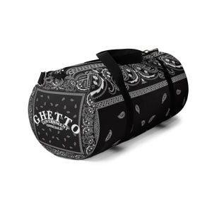 Ghetto Gov't Officialz Black Bandana Logo Designer Duffel Bag in 2 Sizes Heaven Razah / Hell Razah