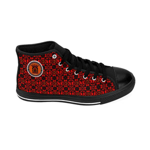 RRA Logo Razah Renaisannce Apparel Designer Men's High-Top Sneakers