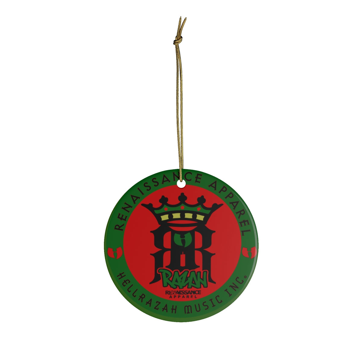 Limited Edition HellRazah Music Inc . - Renaissance Apparel Ceramic Christmas Ornament Tree Decoration