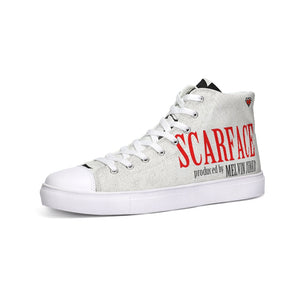 Limited Edition SPIRITUAL SCARFACE ALBUM Cover Collectors  Hightop Canvas Shoe