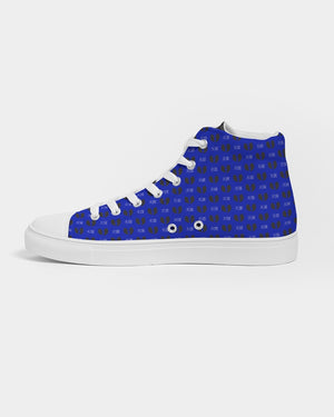 Renaissance Blue Geisha v.III Women's Hightop Canvas Shoe