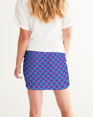 R.A. Grape Women's Mini Skirt