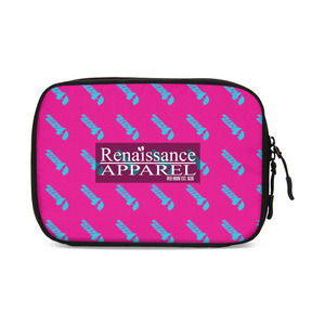 HeavenRazah Pink and Teal Patterned Logo Large Travel Organizer