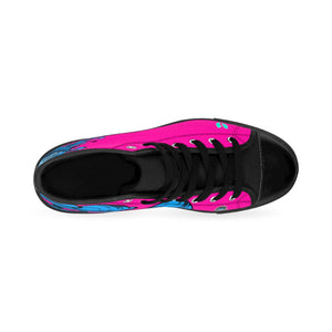 HRMI Pink Hydra Limited Edition Women's High-top Sneakers Official HellRazah Music Inc. - HeavenRazah