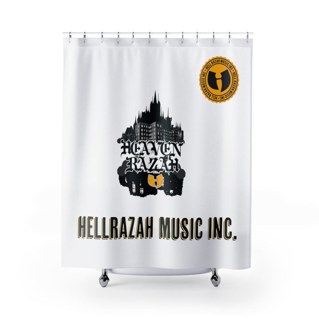 HRMI Renaisannce Temple Scrolls Official HellRazah Music Inc Shower Curtains HeavenRazah