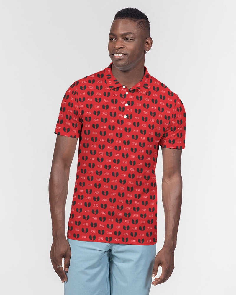 Red Razah Samurai Men's Slim Fit Short Sleeve Polo