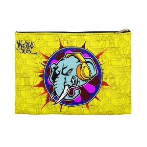 Official HellRazah Music Inc. Elephant Designer Accessory Pouch - Pencil Bag HeavenRazah Merch Graphics by iHustle365