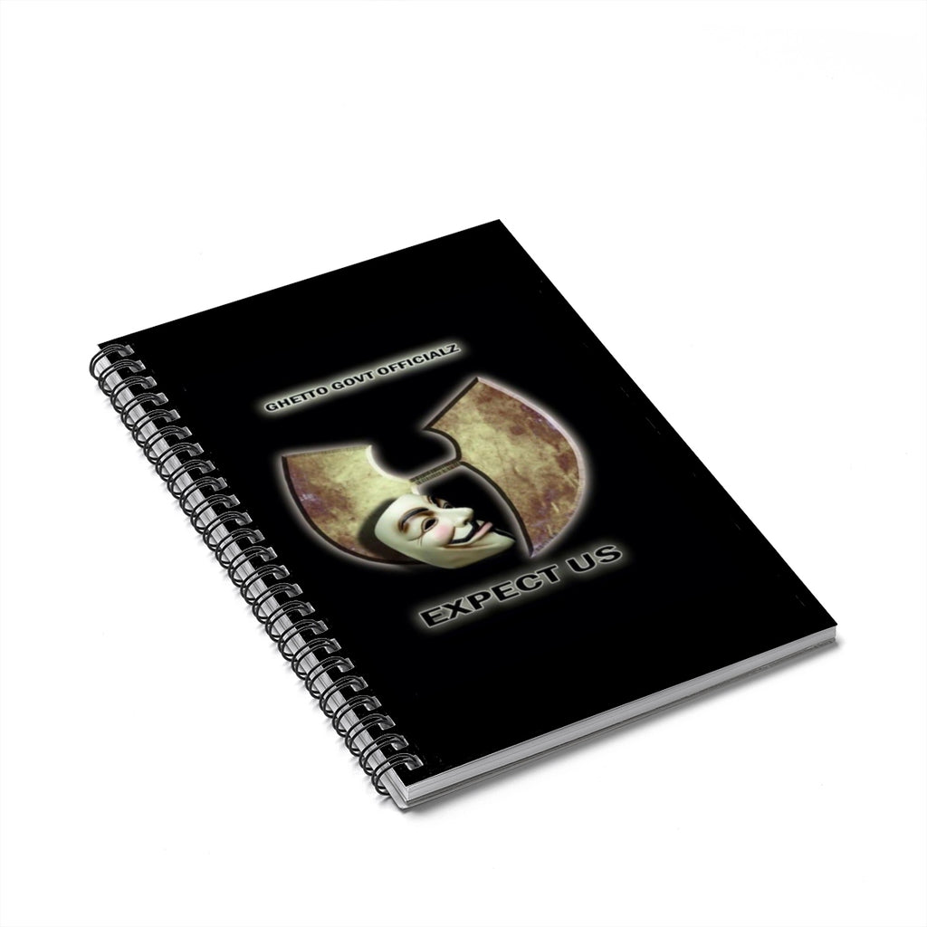 Ghetto Gov't Officialz Anonymous - Expect Us Spiral Notebook - Ruled Line Journal Notebook HellRazah Music Inc. HeavenRazah Merch