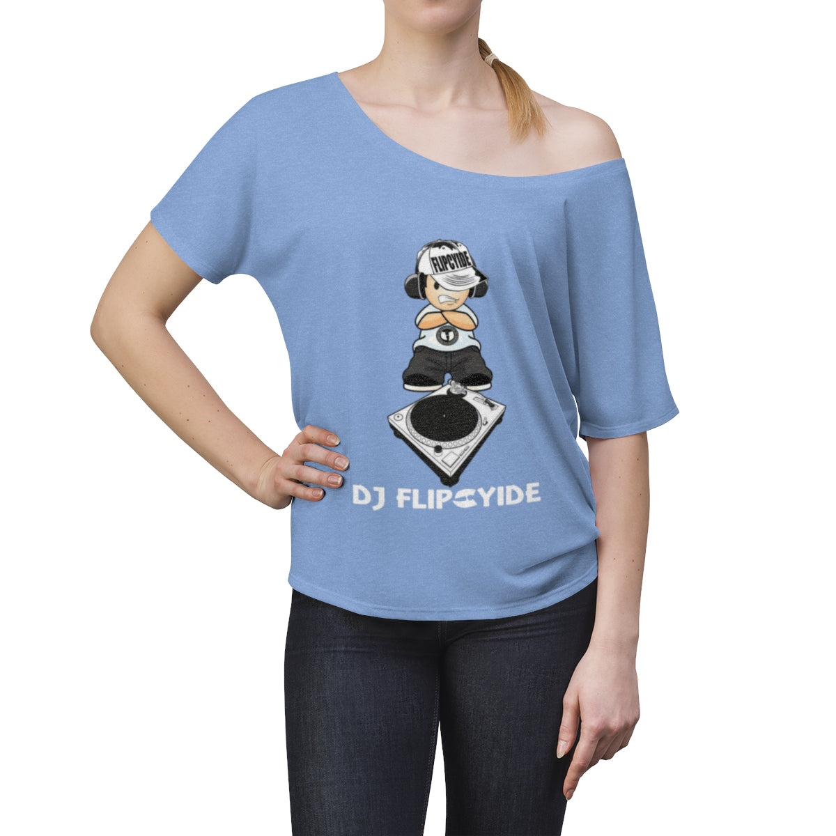 Official DJ FlipCyide Logo Women's Slouchy top