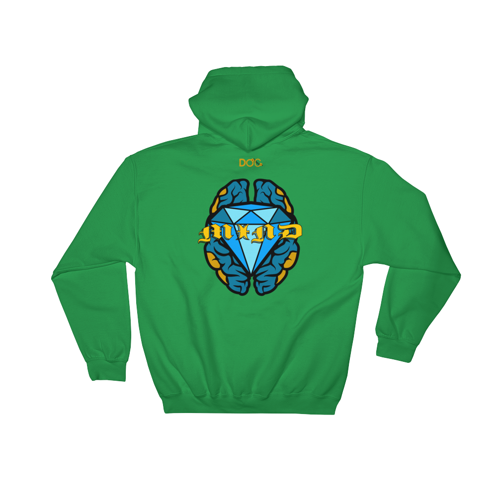 Your Mind Is A DiamondzOC Designer Urban Unisex Hoodie - Hooded Sweatshirt DOC Graphics by iHustle365