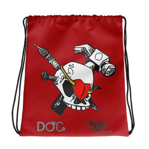 iHustle365 Skull & Heart Designer Drawstring Bag DiamondzOC