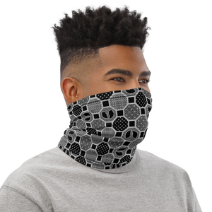 HRMI Gray Patterned Neck Gaiter - Face Shield
