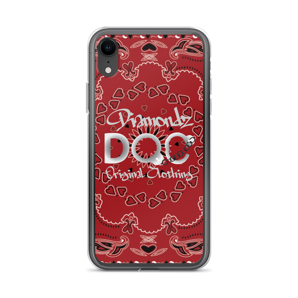 Red Bandana Designer iPhone Case by Diamondz Original Clothing