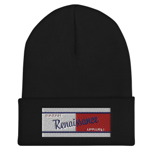 Razah Renaissance Apparel Red White Blue Embroidered Cuffed Beanie