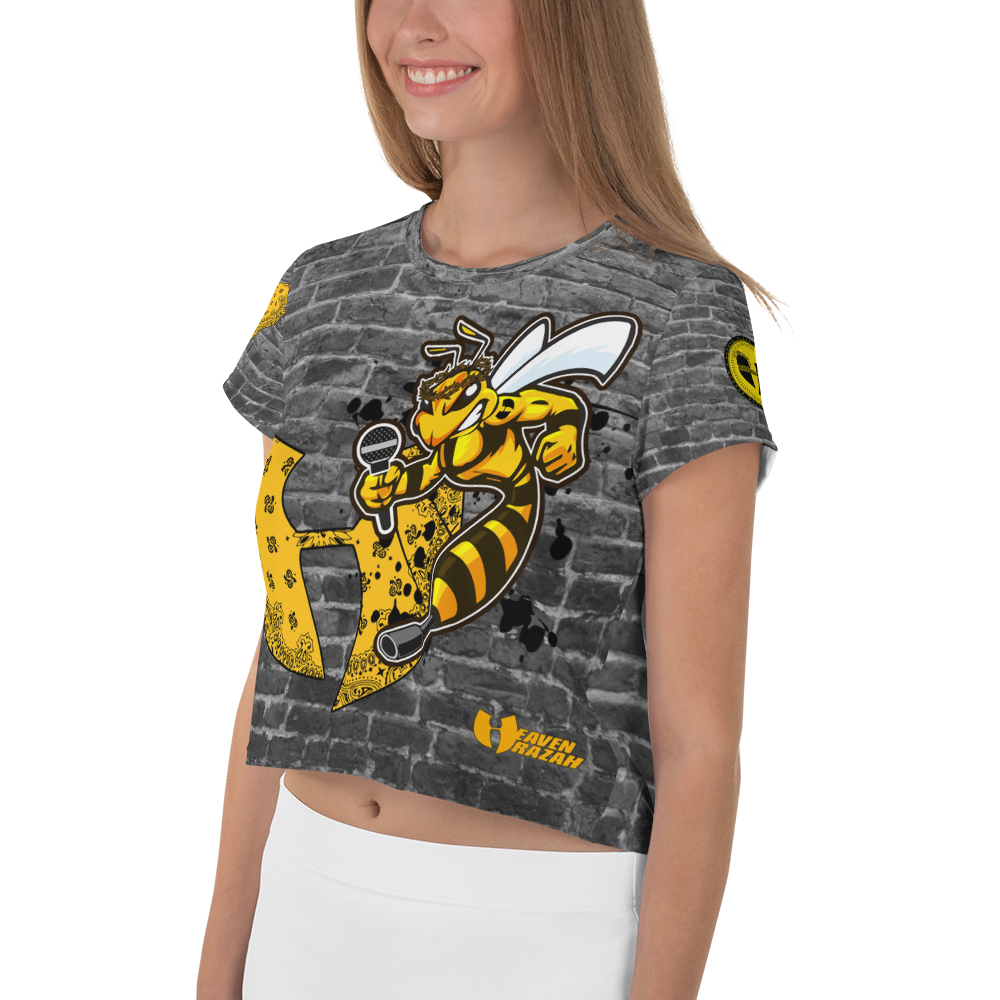 Official Heaven Razah / Hell Razah Music Inc Killer Bee Designer T-Shirt Crop Top Tee