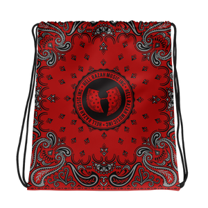 Hell Razah Music Inc Red Bandana Logo Designer Drawstring Bag Heaven Razah