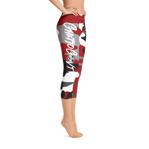 GGO Ghetto Gov't Officialz Heaven Razah / Hell Razah Music Inc Red Camo Designer Capri Leggings