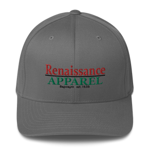 Renaisssance Apparel Embroidered Flexfit Hat - Structured Twill Cap