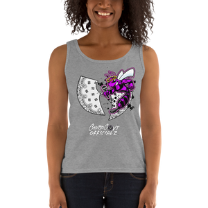 Ghetto Gov't Officialz Purple Bee Designer Heaven Razah Tee Ladies' Tank Top Official Hell Razah