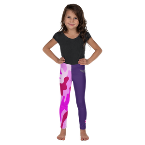 Official Thug Angel Heaven Razah Pink Camo Wingz Designer Youth Kid's Leggings