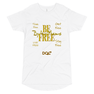 FREE By Any Means designed by DOC Urban Long Body Tshirt Bella + Canvas Tee