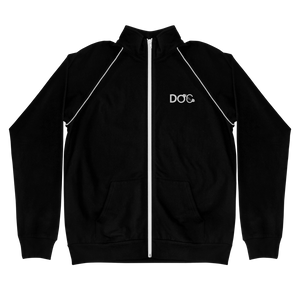 Diamondz Original Clothing Embroidered D.O.C. Logo Designer Piped Fleece Jacket Chaqueta