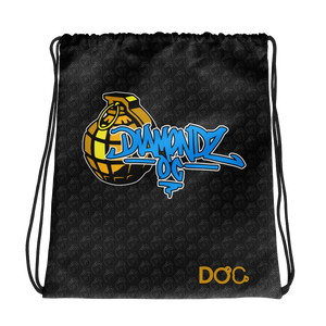 DiamondzOC Urban Grenade Designer Drawstring Bag D.O.C. Graphics by iHustle365