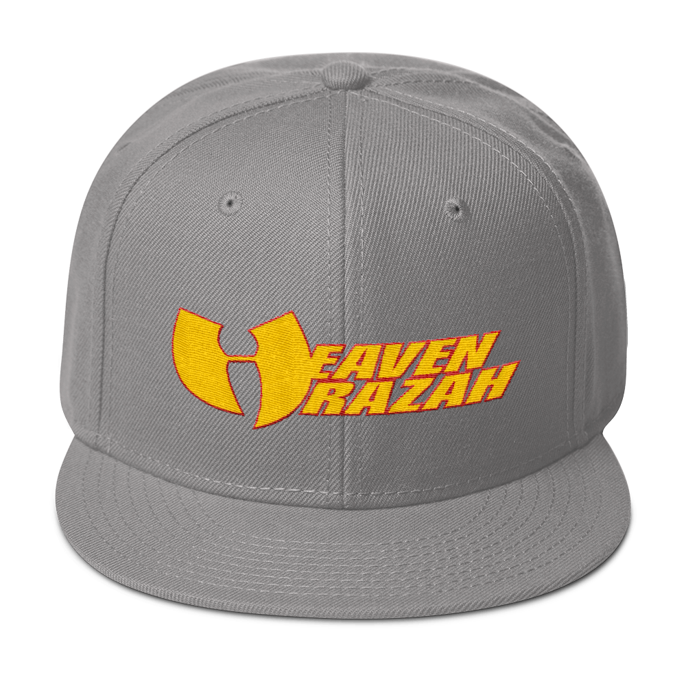 Official Hell Razah Heaven Razah Cap Embroidered Official WU Snapback Hat Graphics by Culture Freedom