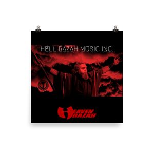 Hell Razah Music Inc Red Logo Official Merchandise Photo paper poster