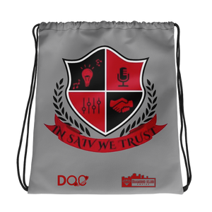 Official Diamond Klub Empire IN SAIV WE TRUST Designer Drawstring Bag