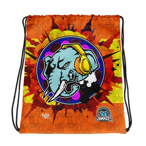 Official Hell Razah Music Inc Elephant Never Forgets Designer Drawstring Bag Heaven Razah Merch Graphics by iHustle365_
