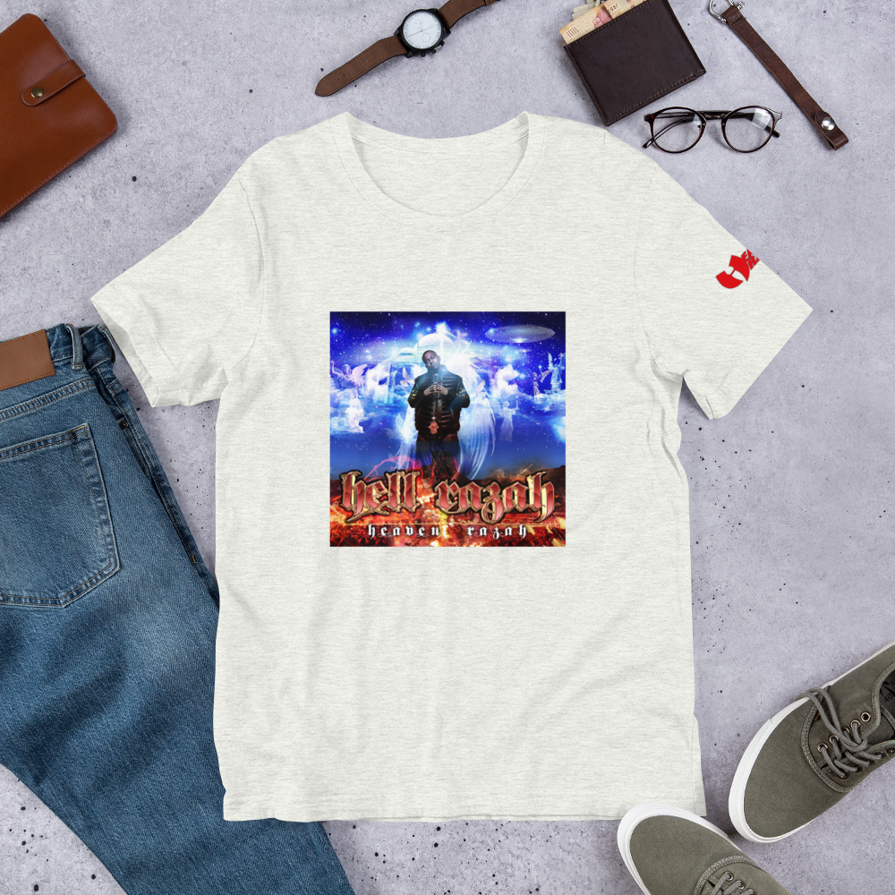 Hell Razah Heaven Razah Album Art Short-Sleeve Unisex T-Shirt Graphics by Ronny Dee