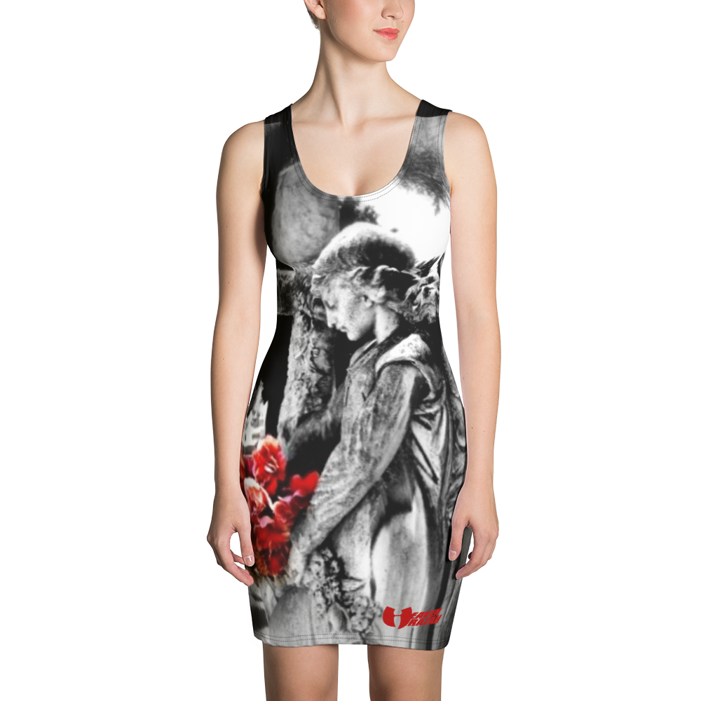 Official Heaven Razah Angel and Cross Designer  Cut & Sew Dress