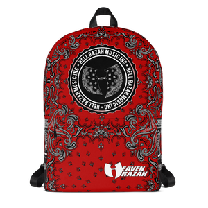 Official Hell Razah Music Inc Red Bandana Designer Backpack
