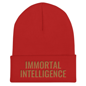 Official IMMORTAL INTELLIGENCE Embroidered Skull Cap Cuffed Beanie Hell Razah Music Inc