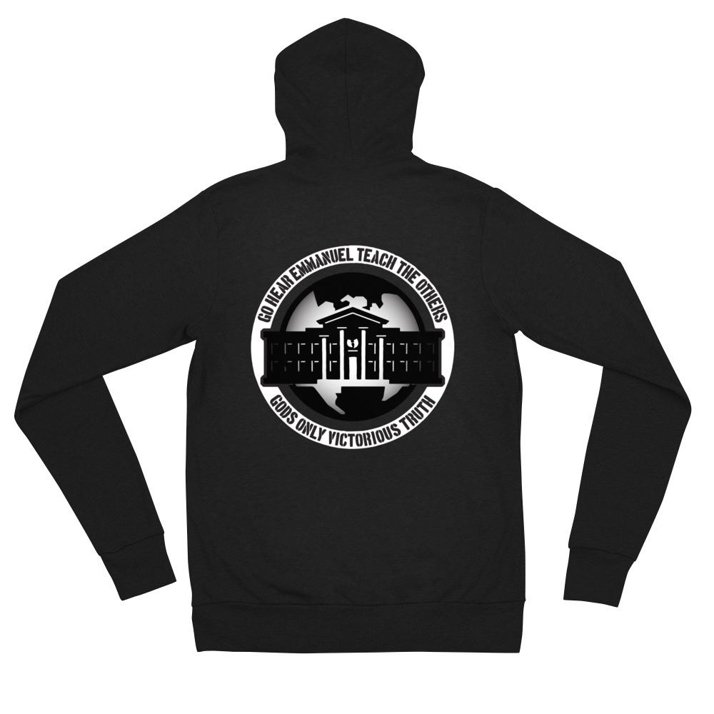 Ghetto Gov't Officialz Heaven Razah / Hell Razah Music Unisex Zip Hoodie