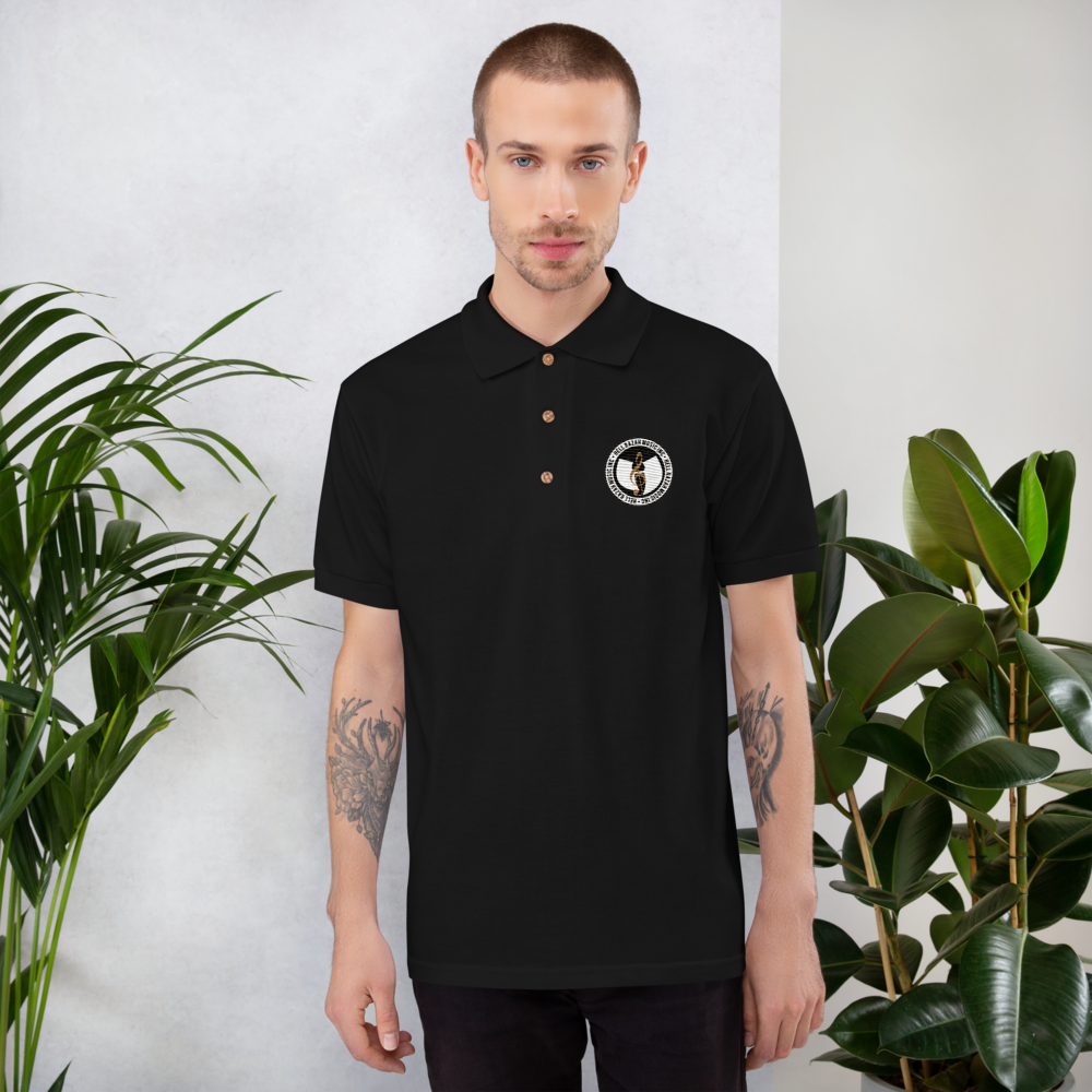 Official Hell Razah Music Inc. Gold Note Logo Unisex Designer Embroidered Polo Shirt Heaven Razah Merch by DiamondzOC