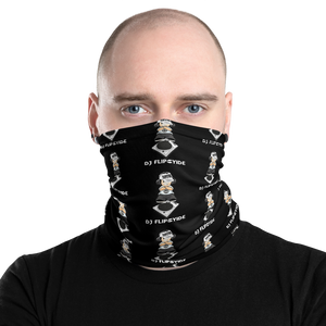 DJ Flipcyide Patterned Logo Face Covering - Neck Gaiter