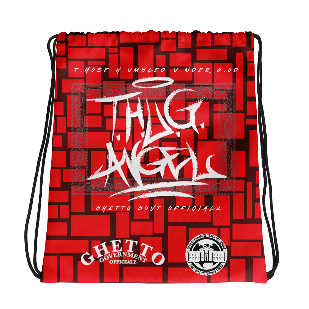 Ghetto Gov't Officialz T.hose H.ubmled U.der G.od Designer Drawstring bag
