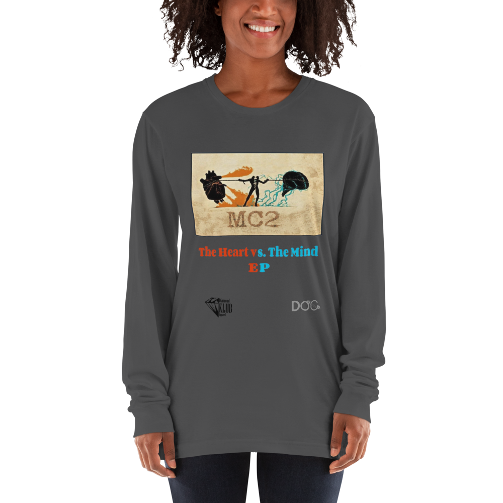 Official Diamond Klub Empire HEART vs the MIND Long Sleeve Unisex T-Shirt