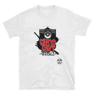 Ghetto Gov't Officialz Grafatti w Logo Heaven Razah - Hell Razah Designer Unisex Tee Short-Sleeve T-Shirt Graphics by iHustle365_