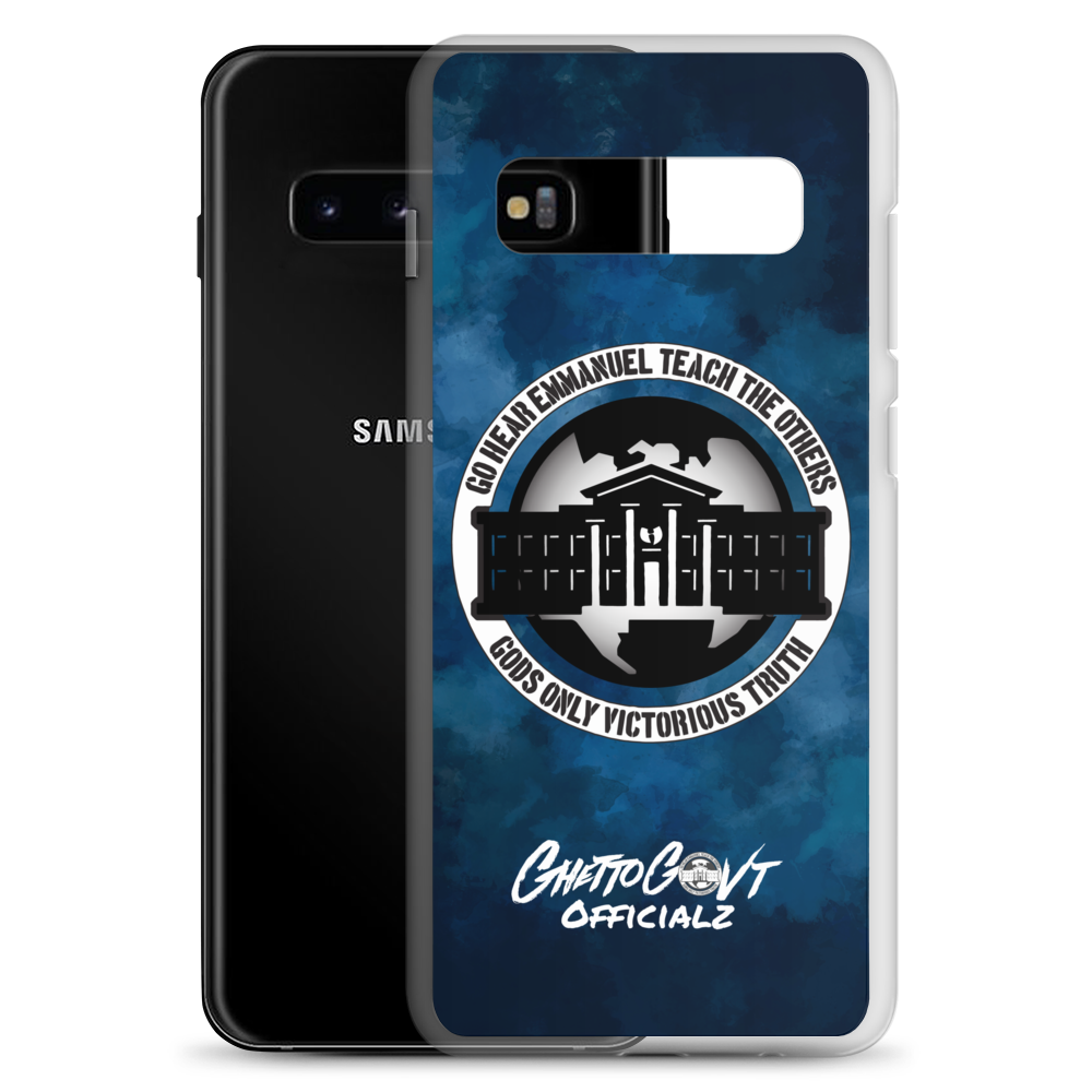 Ghetto Gov't Officialz Logo Go Hear Emmanuel Teach The Others Samsung Cell Phone Case Heaven Razah Hell Razah Music Inc