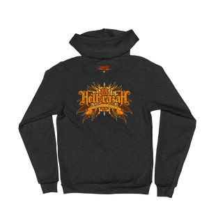 HRMI Throwback Logo Fall 2019 HellRazah Music Inc. Designer Zip Up Hoodie Sweater HeavenRazah Merchandise